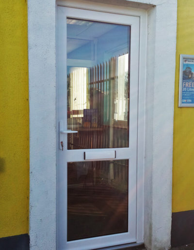 All glass pvc door