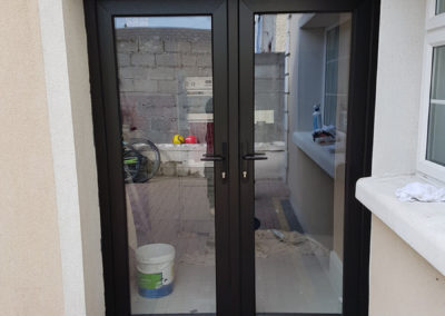 Black double glazed french doors