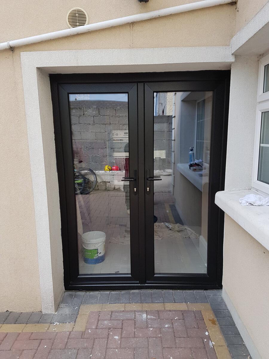 French doors brealey windows doors ltd black double glazed french doors rubansaba