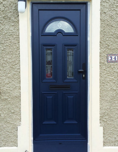 Blue sunbeam 2 pvc door
