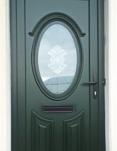 Green Renaissance pvc door