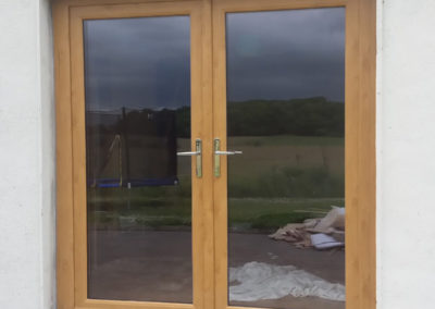 Irish Oak pvc french doors