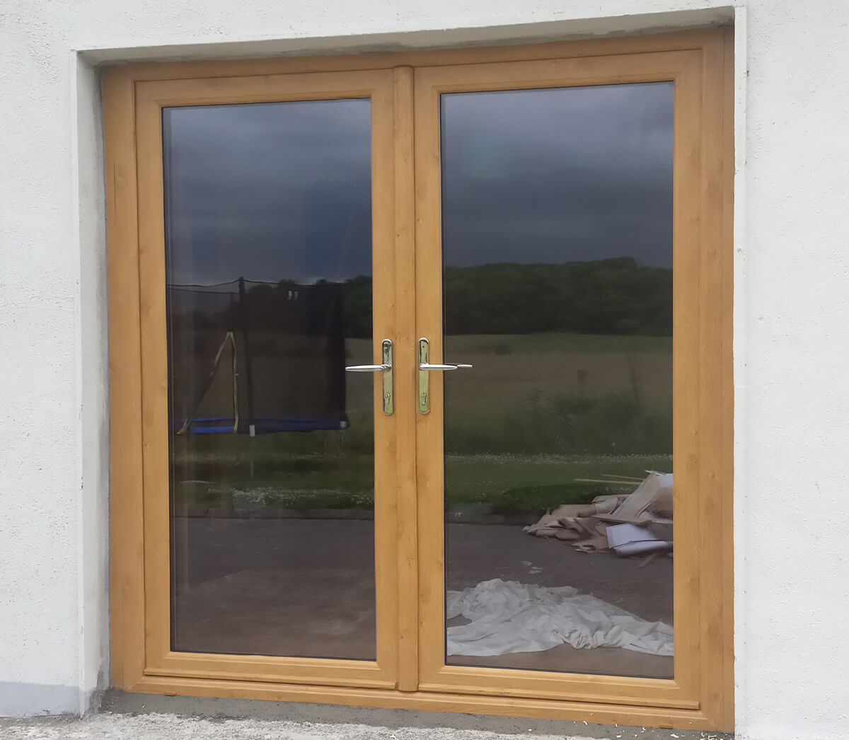 Irish oak pvc french doors brealey windows doors ltd for French pvc doors