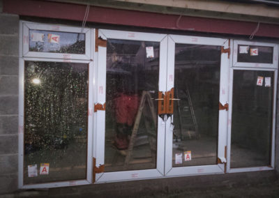 Oak french doors with sidelights