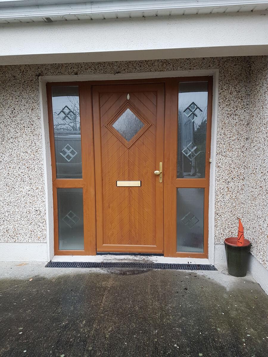 Palladio edinburgh door with split sidelights in oak for Split french doors
