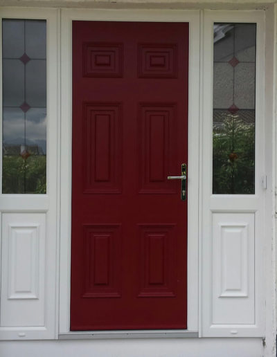 Palladio Georgian Solid with 2 sidelights half panel,half glass