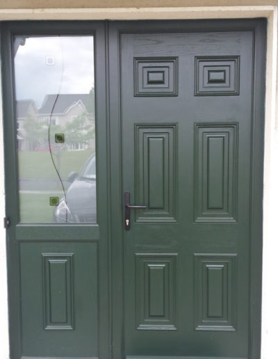 Palladio Georgian door with split sidelight in Green