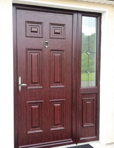 Palladio Georgian solid with sidelight in Rosewood