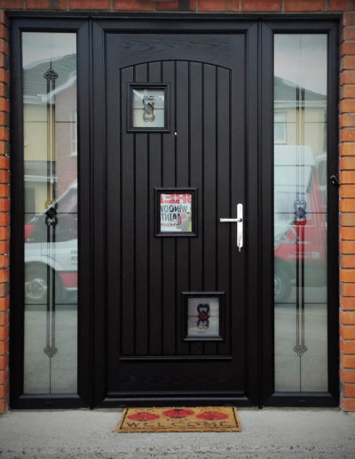 Palladio London door with sidelights