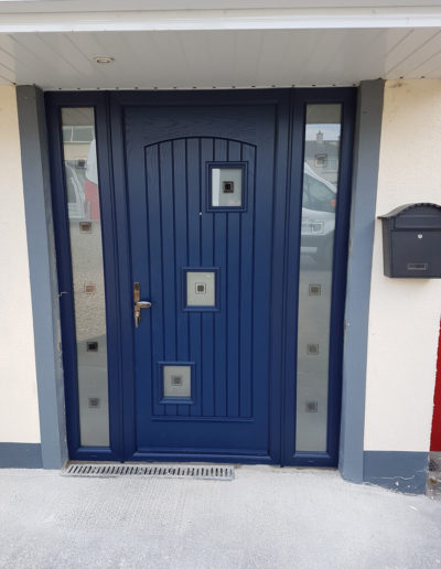 Palladio London door with sidelights in Blue