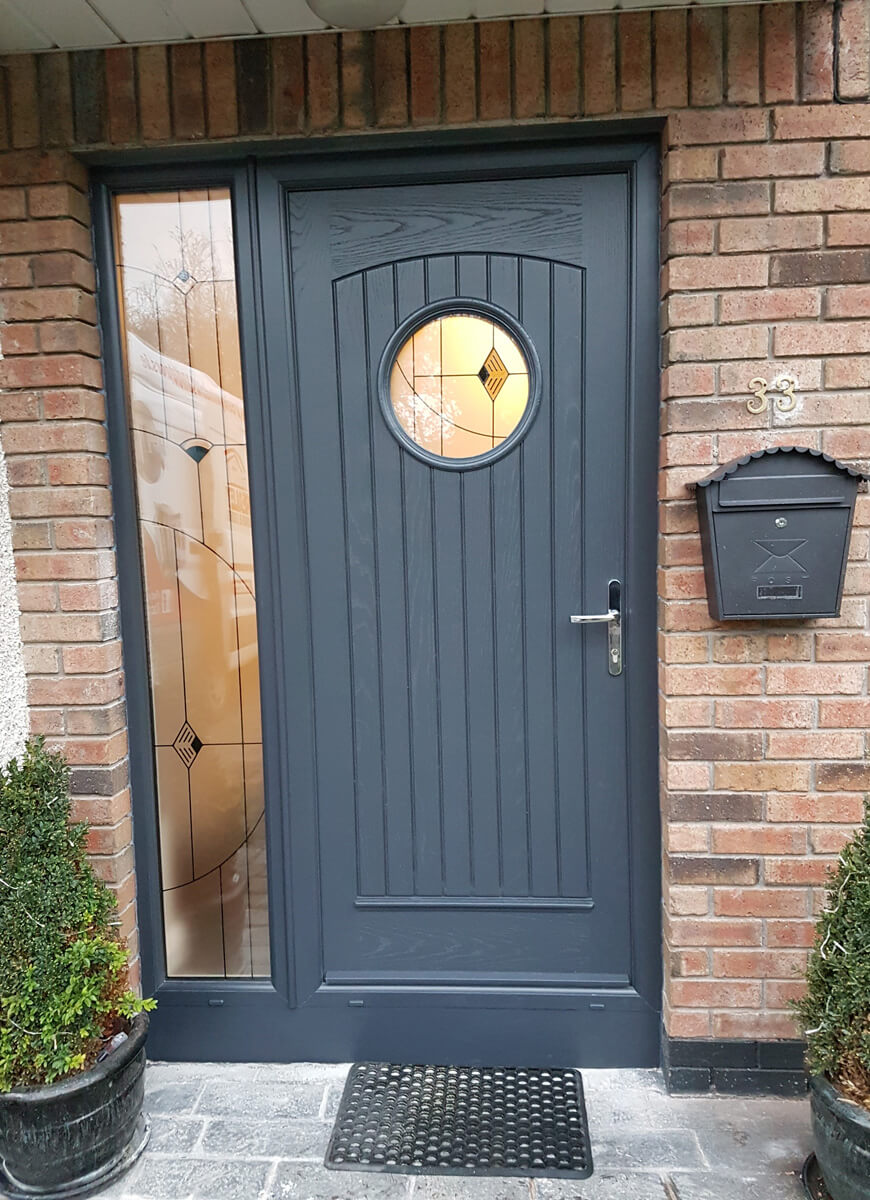 Palladio Viking door with sidelight in Anthracite Grey & Palladio Viking door with sidelight in Anthracite Grey | Brealey ...
