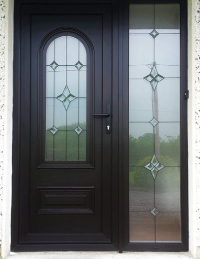 Palladio pvc door with sidelight