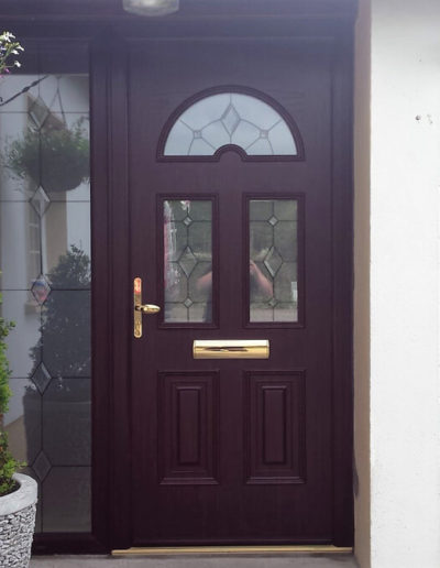 Palladio sunbeam 2 door with sidelight in Rosewood