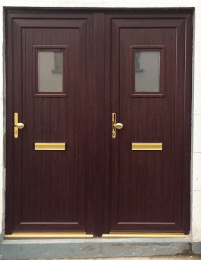 Side by side pvc doors in Rosewood