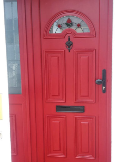 Sunbeam 1 pvc door with sidelight in Red