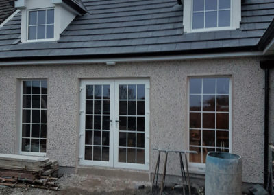 Triple glazed french door and windows