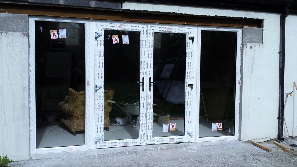 White Pvc French Door With Sidelights Brealey Windows
