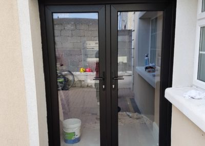 Black French door double glaze