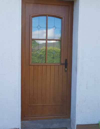 San Tiago door in Oak