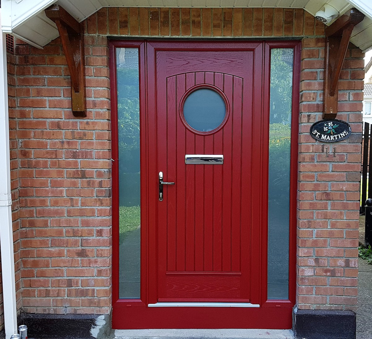 Viking door with plain Satinized glass & Viking door with plain Satinized glass | Brealey Windows \u0026 Doors Ltd