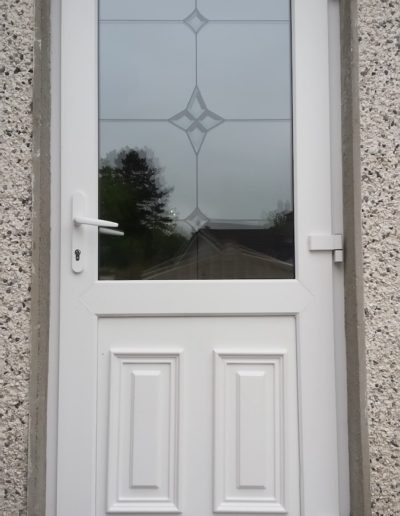 White PVC back door
