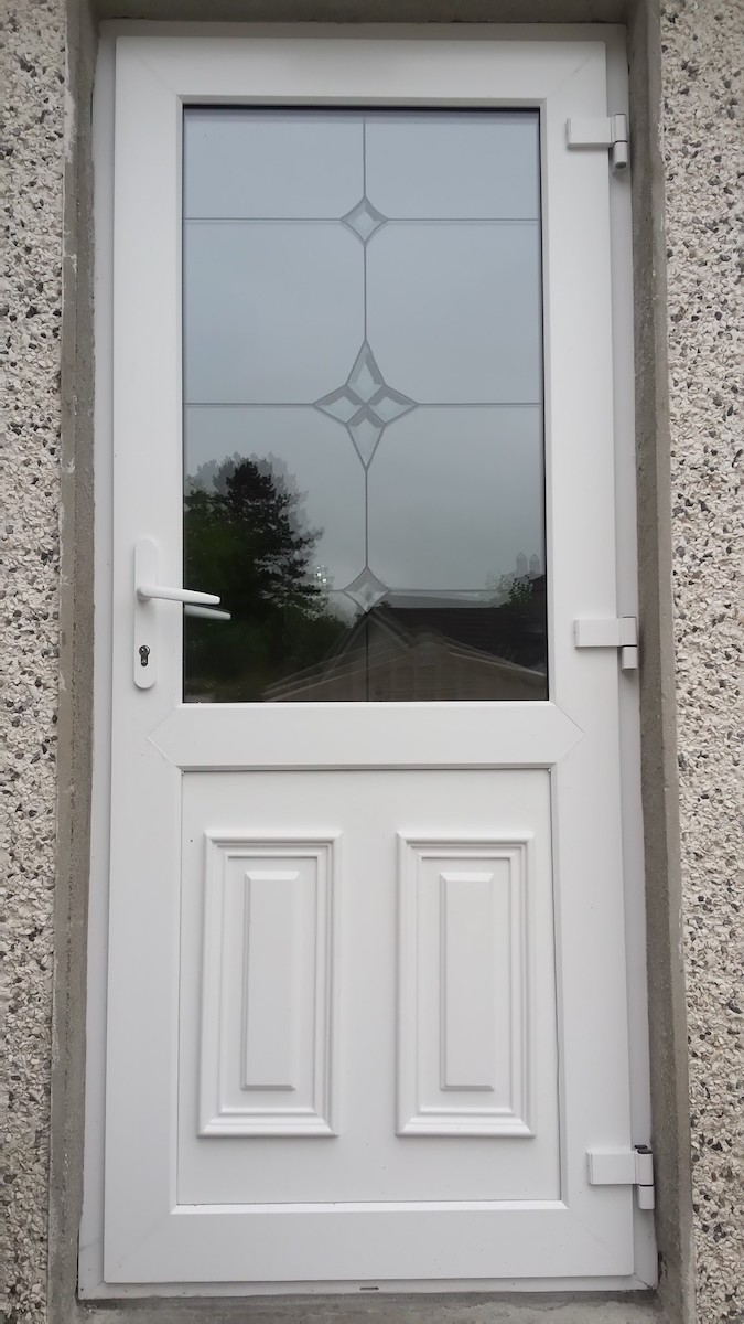 White pvc back door brealey windows doors ltd for White back door