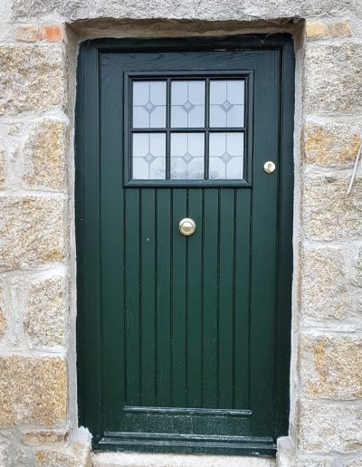 Dublin door in Green