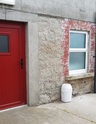 Red Pvc door White triple glaze